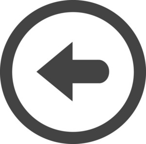 Button Back 2 Glyph Icon