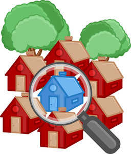 Buy A House - Real Estate Concept - Vector Character Cartoon Illustration