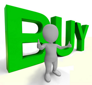 Buy Letters As Sign For Commerce And Purchasing