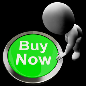 Buy Now Button Shows Purchasing And Online Shopping