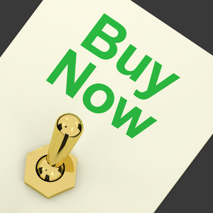 Buy Now Switch As Symbol For Commerce And Purchasing