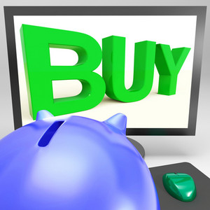 Buy On Monitor Shows Shopping