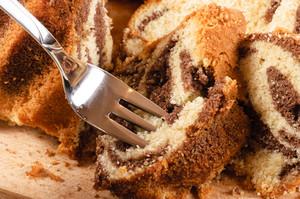 Cake On Fork