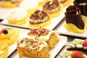 Cake Selection On Display