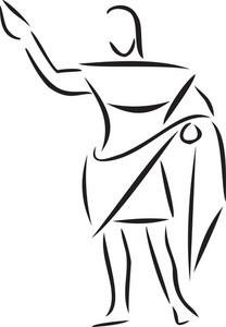 Illustration Of An Ancient Man.