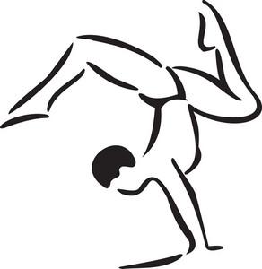 Young Man Doing Gymnastic.