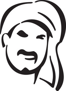 Illustration Of A Pirate's Face.