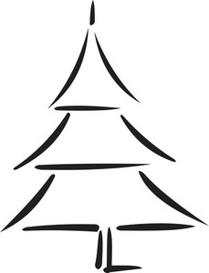 Illustration Of A Christmas Tree.