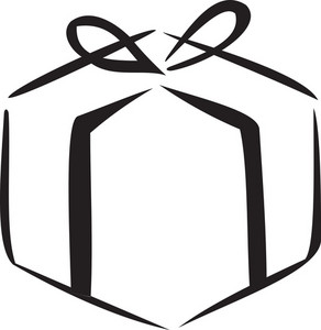 Illustration Of A Wrapped Gift.