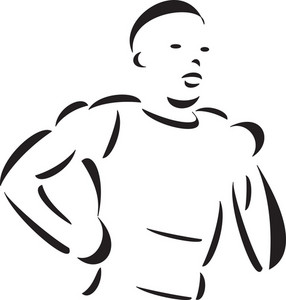Illustration Of A Running Athlete.