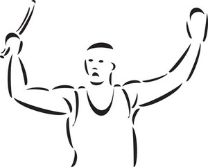 Illustration Of A Young Athlete.