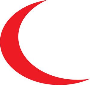 Design Element Of Crescent Moon.