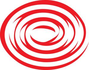 Design Element Of Red Spiral.