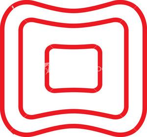 Sketch Of Square Button.