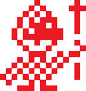 Design Element Of A Pixel Art Image.