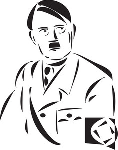 Portrait Of Adolf  Hitler.