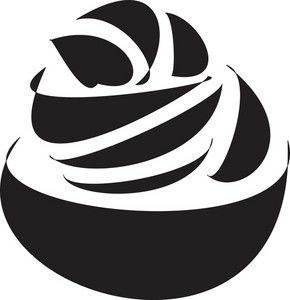 Illustration Of Cup Ice Cream.