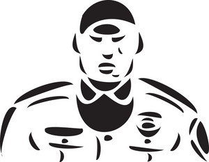 Illustration Of A Jailor In Uniform.