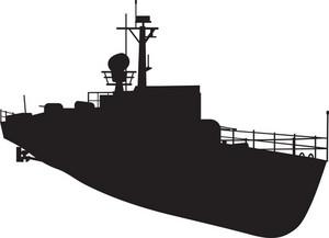 Naval Vessel Silhouette