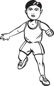 Illustration Of A Walking Boy.