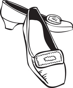 Illustration Of A Lady Shoes.