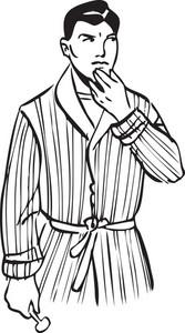Illustration Of A Man With Razor.