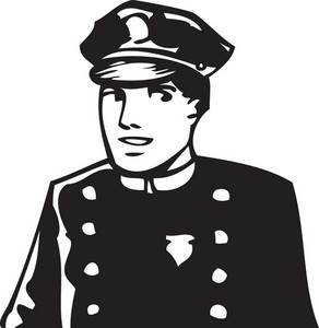 Illustration Of A Traffic Police Officer.