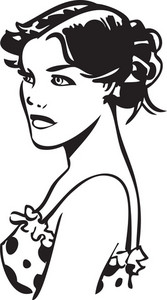 Illustration Of A Stylish Lady.