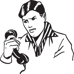 Illustration Of A Man With Phone.