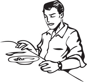Illustration Of A Man With Food.