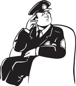 Illustration Of A Police Officer.