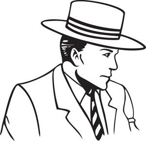 Illustration Of A Man With Hat.