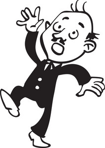 Illustration Of A Slipping Man.