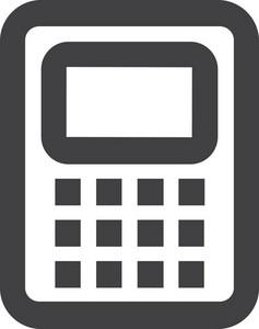 Calculator Stroke Icon
