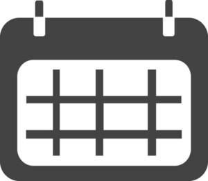 Calendar 1 Glyph Icon