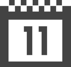 Calendar 2 Glyph Icon