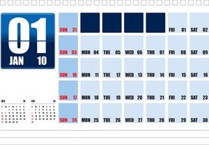 Calendar 2009_table Top_jan