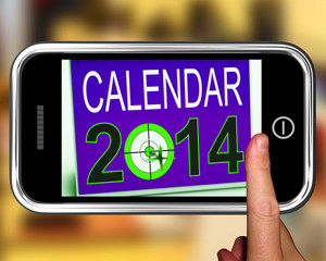 Calendar 2014 On Smartphone Shows Future Missions