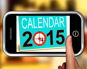 Calendar 2015 On Smartphone Showing Future Plans
