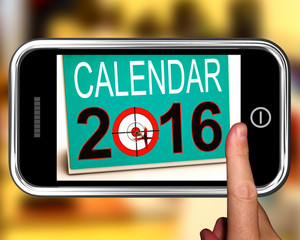 Calendar 2016 On Smartphone Shows Future Calendar