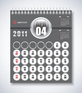 Calendar Design 2011 - April