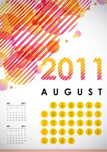 Calendar Design 2011 - August