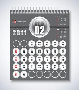 Calendar Design 2011 - February