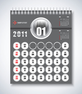 Calendar Design 2011 - January