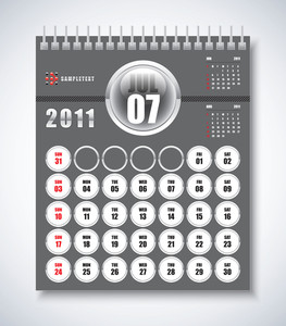 Calendar Design 2011 - July
