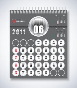 Calendar Design 2011 - June