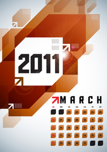 Calendar Design 2011 - March