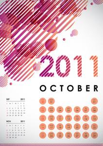 Calendar Design 2011 - October