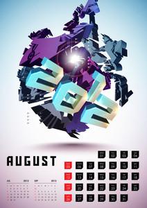 Calendar Design 2012 - August