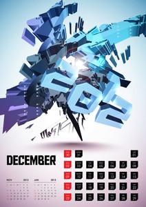 Calendar Design 2012 - December